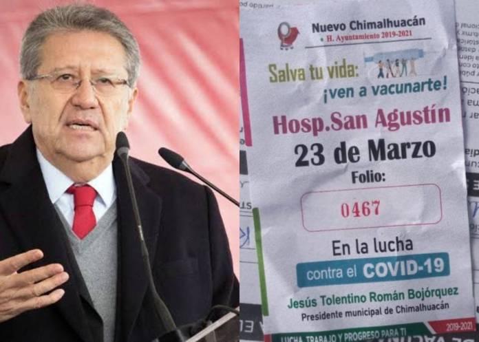 Vacunación en Chimalhuacán; acarreo y proselitismo de Antorcha Campesina