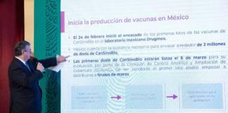 México producirá 2 millones de vacunas para finales de marzo
