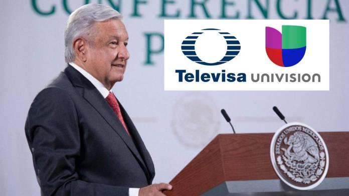 AMLO ve con buenos ojos fusión Televisa-Univision