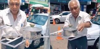 Hombre de 71 años inventa estufa solar para cuidar el medio ambiente