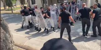 A golpes terminó un entrenamiento de la Guardia Nacional