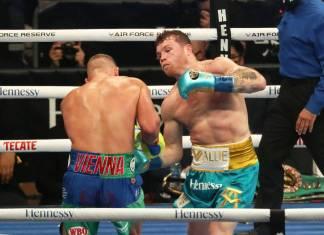 Canelo vence a Saunders por knockout técnico