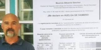 Profesor del CCH Naucalpan se declara en huelga de hambre por falta de pago