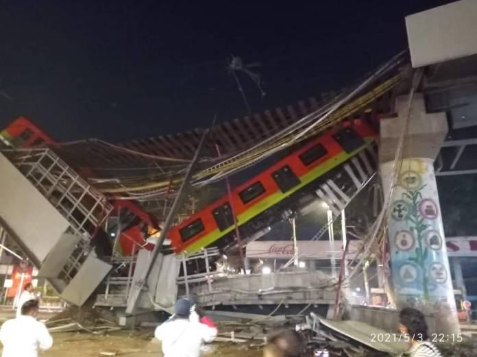 Difunden momento exacto del desplome de estructura de la Linea 12 del Metro