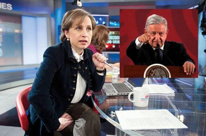 Carmen Aristegui se manifiesta contra AMLO