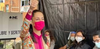 Ya votó Claudia Sheinbaum; pide a ciudadanía participar en la elección