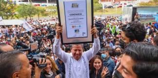 IEEZ entrega constancia de mayoría a David Monreal al gobierno de Zacatecas