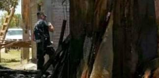 Incendian casa de gobernador Yaqui de Loma de Guamúchil