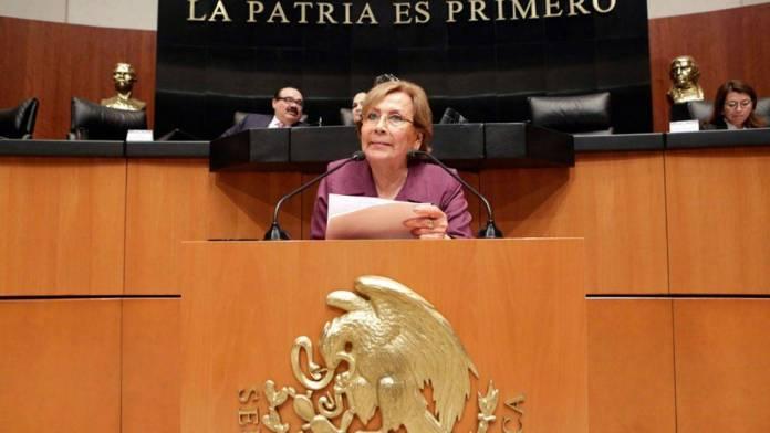 Senadora entrega proyecto para la desaparición de los poderes en Tamaulipas