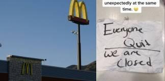 Empleados de un McDonald's renuncian en plena jornada laboral