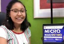 Adolescente zapoteca gana concurso en Indonesia por cortometraje sobre micromachismos
