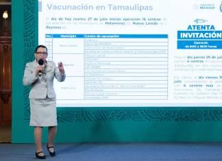 Sólo faltan 10 municipios para concluir vacunación en frontera norte: Rosa Icela