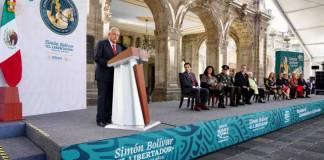 Simón Bolívar era un político con vocación; AMLO en el 238 aniversario de su natalicio