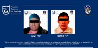 Fiscalía CDMX detuvo a 2 hombres por la desaparición de 2 jóvenes en Azcapotzalco