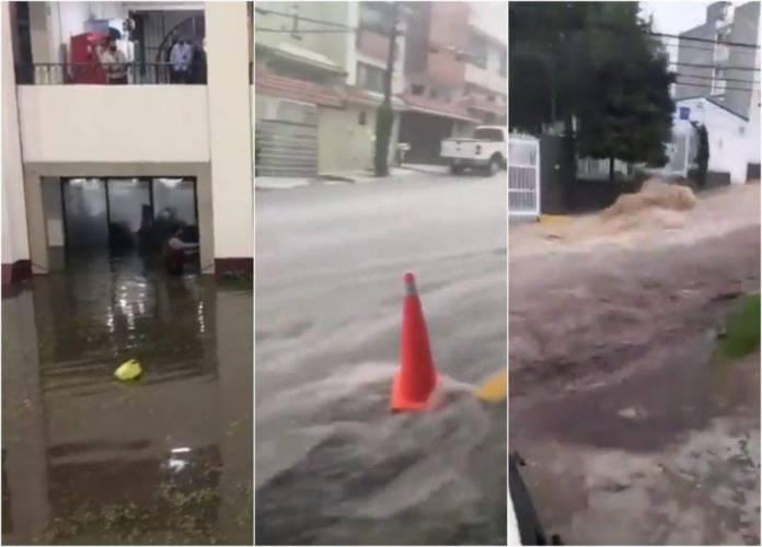 inundacion tlalnepantla atizapan edomex 1024x736 - Video: Checa las tremendas inundaciones que provocó la lluvia en el Edomex