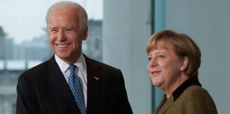 Merkel sostiene su última reunión como canciller con Biden en La Casa Blanca