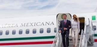 Así viajaba Peña, amigos y familia en el avión presidencial