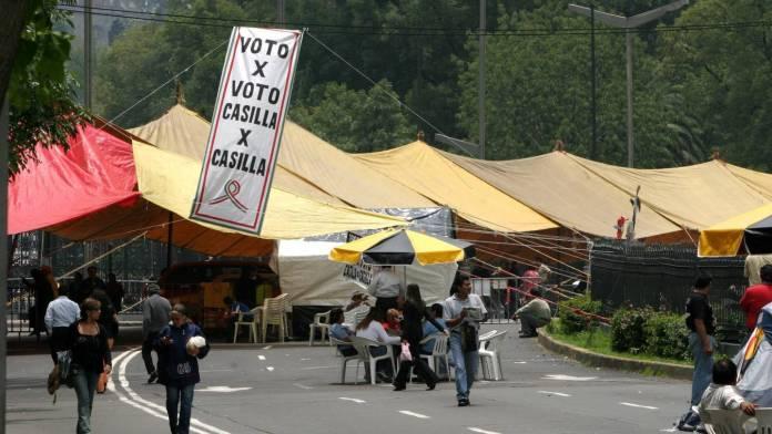 ¿Cuánto costó el plantón de AMLO en Paseo de la Reforma en 2006?