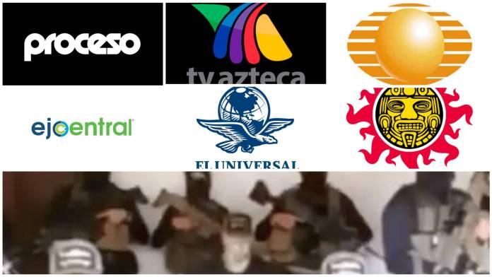 Medios corporativos lanzan comunicado contra amenazas del CJNG y lo utilizan para golpeteo político