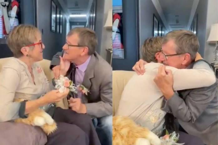 Hombre le pide matrimonio cada semana a su esposa que padece Alzheimer