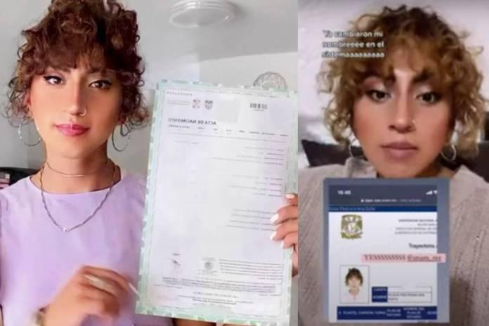 Estudiante transgénero celebra que la UNAM cambio su nombre y foto en sus documentos