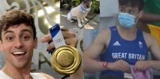 Tom Daley revela que estaba tejiendo un suéter para perros en el video que se hizo viral en Juegos Olímpicos