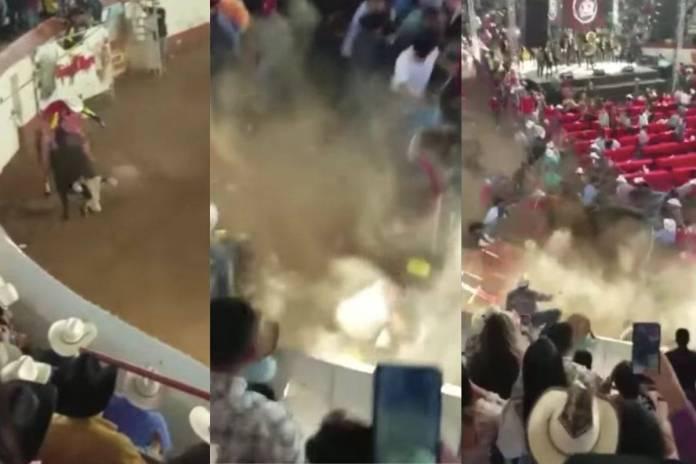 Toro embiste a varias personas durante jaripeo clandestino en Michoacán