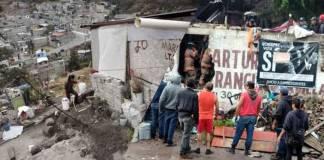 Derrumbe en Sierra de Guadalupe, Ecatepec, deja una persona lesionada