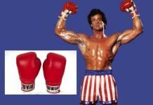 Subastarán guantes que usó Sylvester Stallone en Rocky