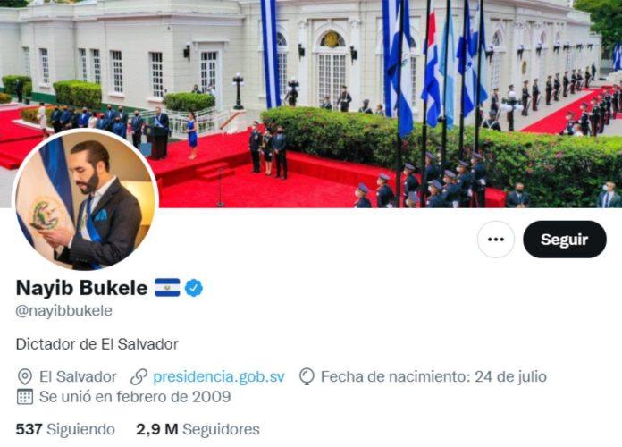 "Presidente del Salvador se autonombra ""dictador"" en Twitter"