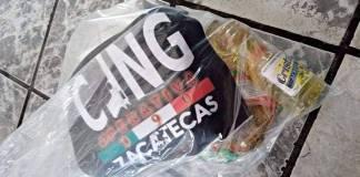 CJNG reparte despensa a afectados por las lluvias en Zacatecas