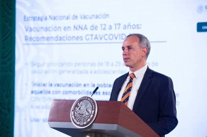 Gatell confirma vacunación de personas de 12 a 17 años