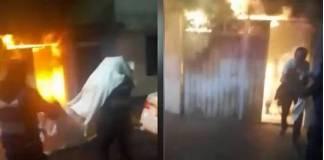 PBI rescata a dos ancianos de incendio