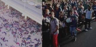 Migrantes frontera con Texas