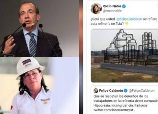 Nahle trolea a Calderón por refinería que nunca construyo en Tula