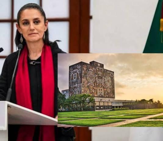 La UNAM debe de estar al servicio de la Nación y del pueblo de México: Sheinbaum