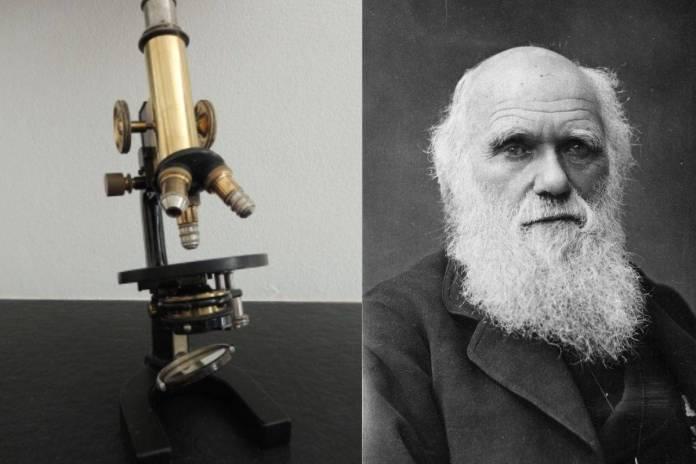 Subastarán microscopio que utilizó Charles Darwin hace dos siglos