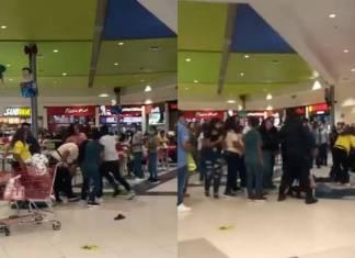 Familias se pelean a golpes por una mesa en centro comercial de Nuevo León