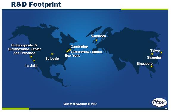 Pfizer R&D Footprint
