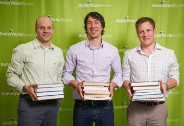 """Xavier Helgesen, Christopher """"Kreece"""" Fuchs and Jeff Kurtzman, Founders of Better World Book"""