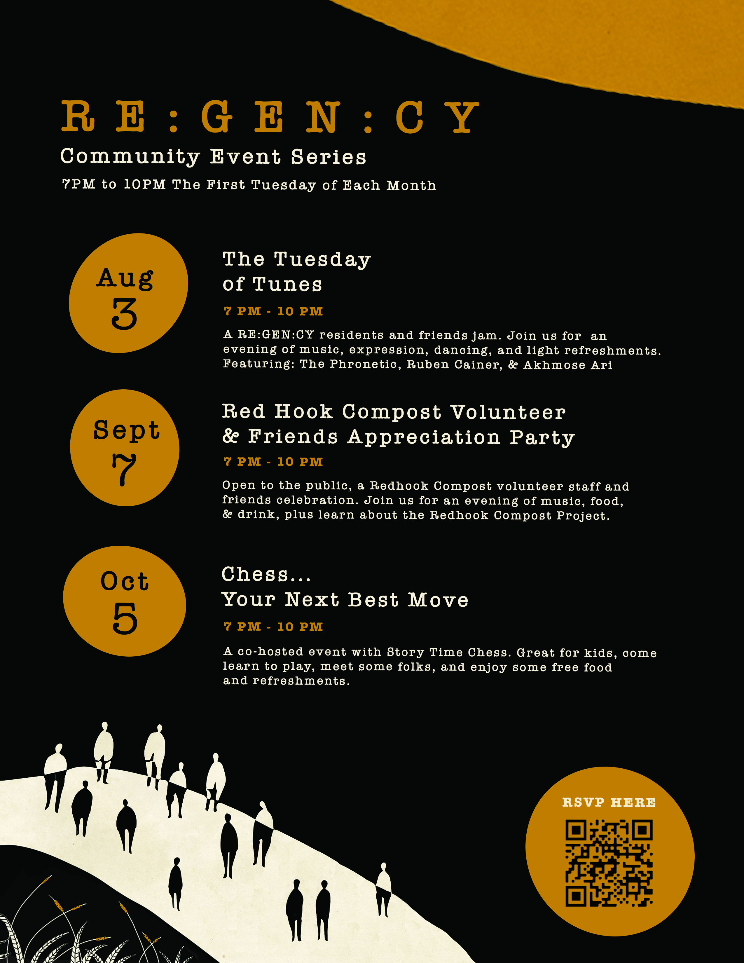 Regency community space hosting a series of events on the first Tuesday celebrating music regeneration and community