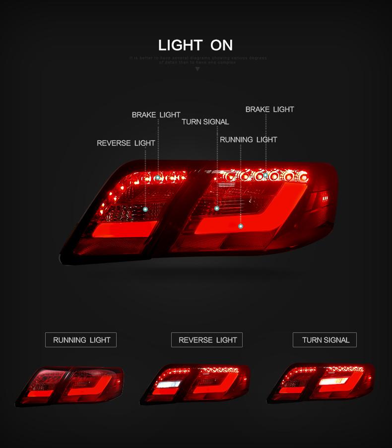 toyota camry taillight taillamp tail lamp light