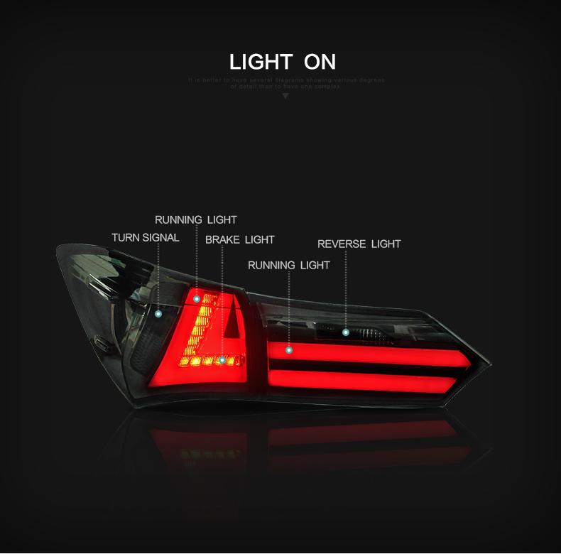 toyota corolla taillight taillamp tail lamp light