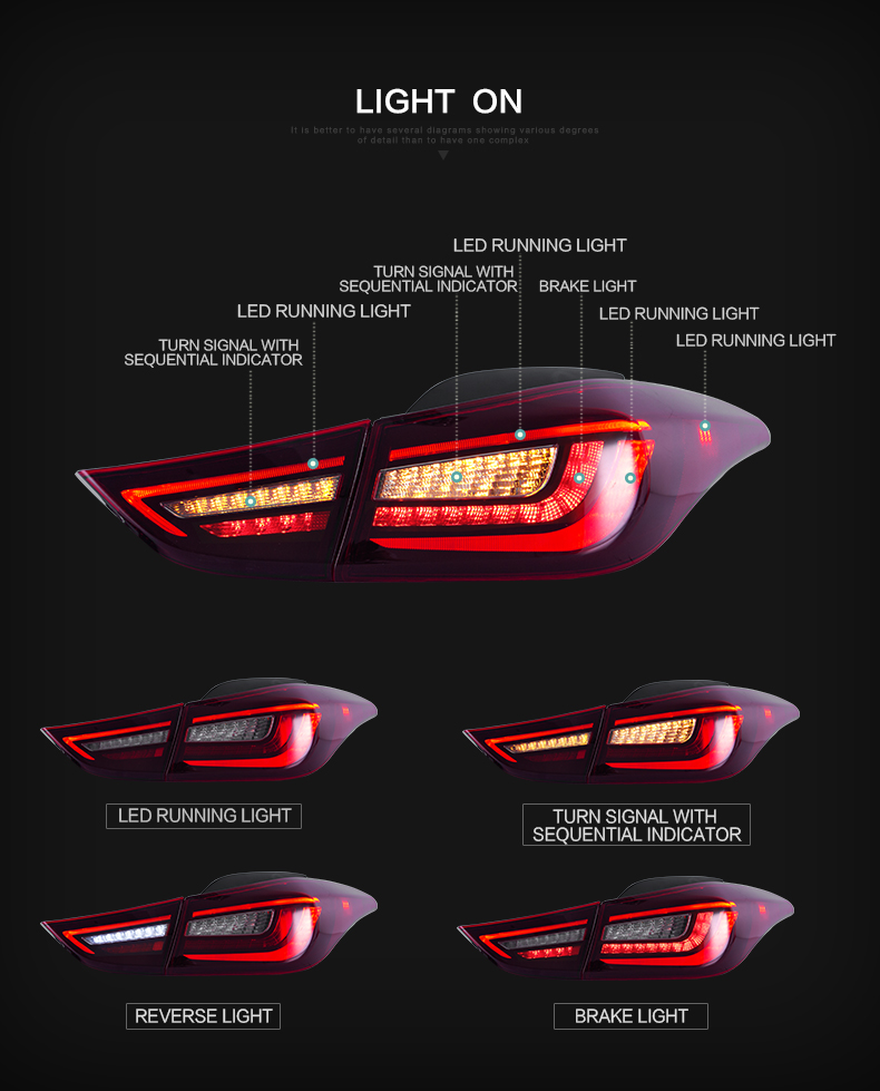 hyundai elantra tail lights qatar