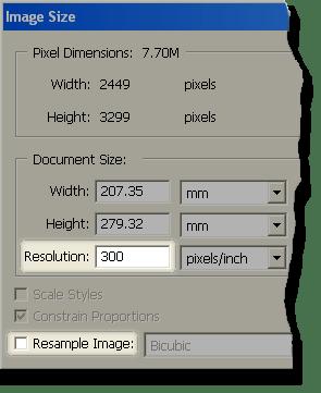 Photoshop's 'Image Size' dialog