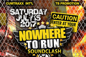 Nowhere To Run Soundclash – Killa Assassin Vs. King Shiloh Vs. Zone Warrior 07.15.17