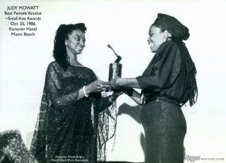 judy mowatt at small axe awards