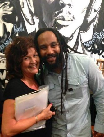 Kymani Marley and MPeggyQ 2013 Bob Marley Exhibit Miami
