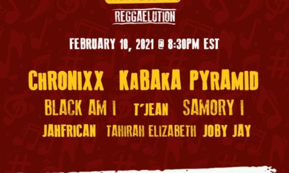 Reggaelution 2021 -Chronixx, Kabaka Pyramid & Samory I