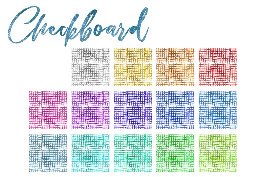 Glitter Texturen Endlosmuster 203 Elemente Set Checkboard